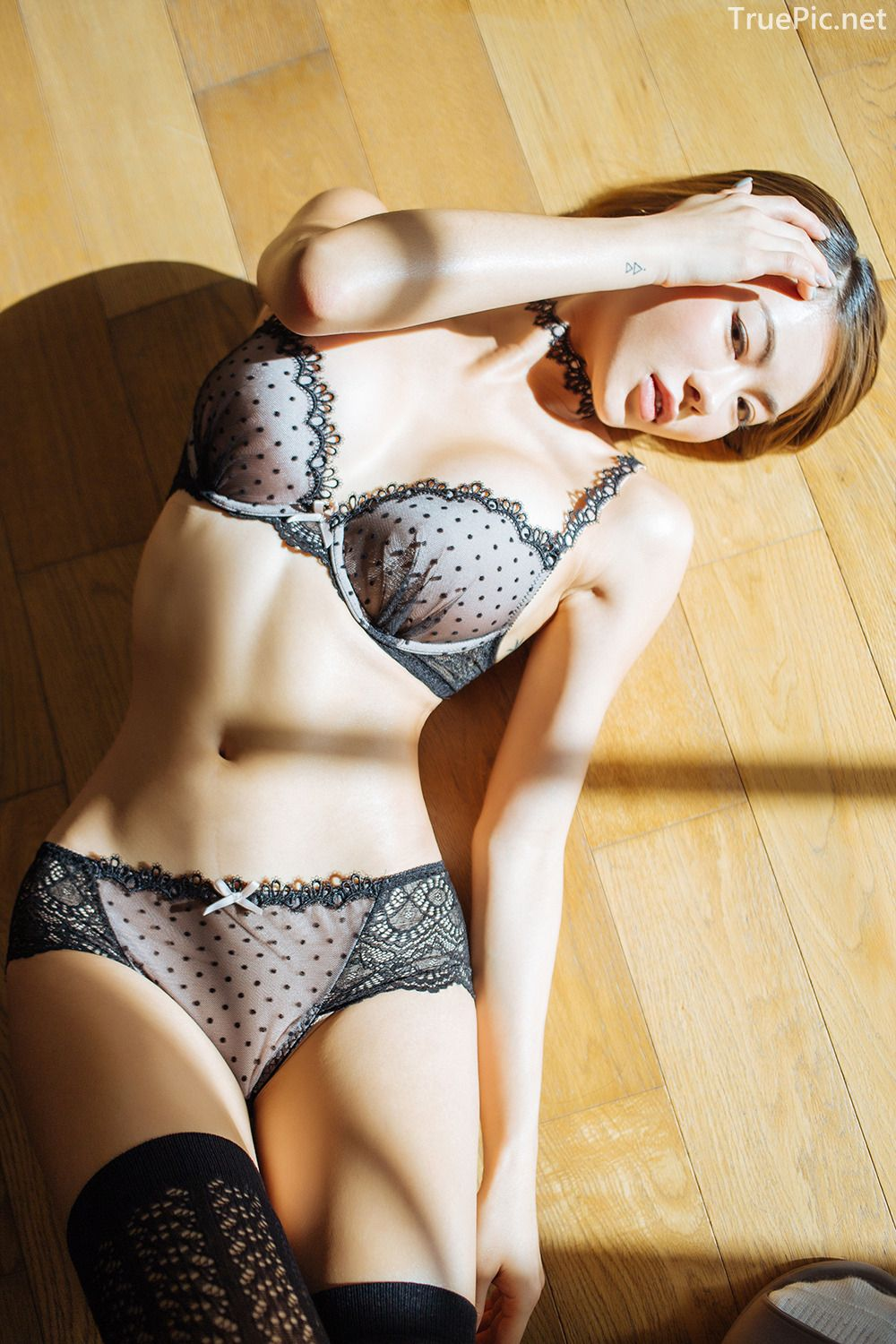 Lingerie queen An Seo Rin - Choker Lingerie Set - Korean model fashion - Picture 3