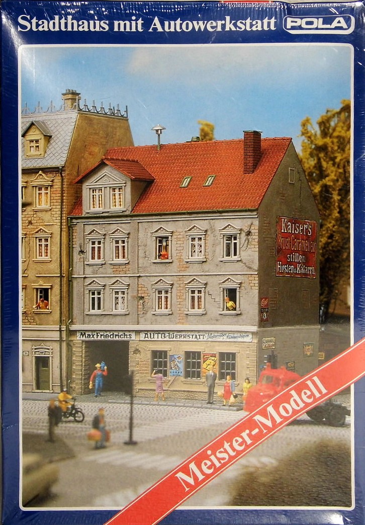 Bahnbauten H0 Tt N Stadthaus Mit Hinterhof Autowerkstatt