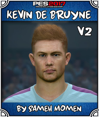 PES 2017 Kevin De Bruyne Face by by Sameh Momen