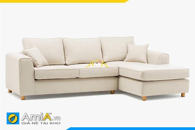 Ghế sofa phòng khách đẹp dạng góc chữ L bọc nỉ AmiA 20170