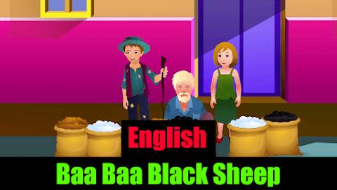 Baa Baa Black Sheep Nursery Rhymes for Kids with Lyrics and Images