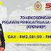 70 Kekosongan Pegawai PenguatKuasa KP41. Gaji RM2,081.00 - RM9,547.00