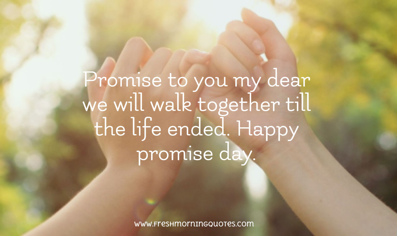 promise to you my dear promise day quotes