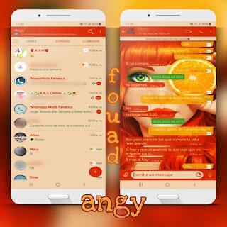 Orange At Girl Theme For YOWhatsApp & Fouad WhatsApp By Ave fénix