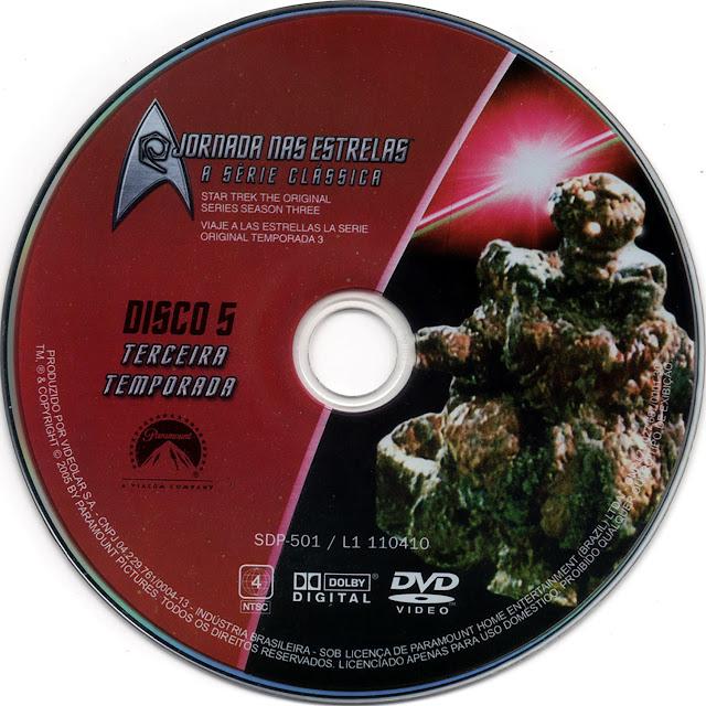 Label DVD Jornada nas Estrelas A Série Clássica Terceira Temporada Disco 5 (Oficial)