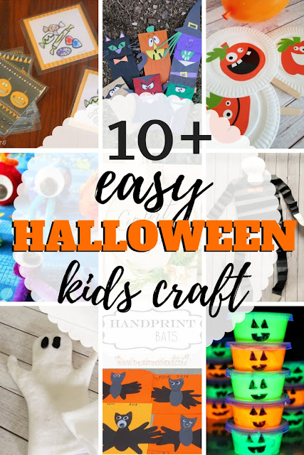 Great list of fun and easy Halloween kids craft ideas and projects.