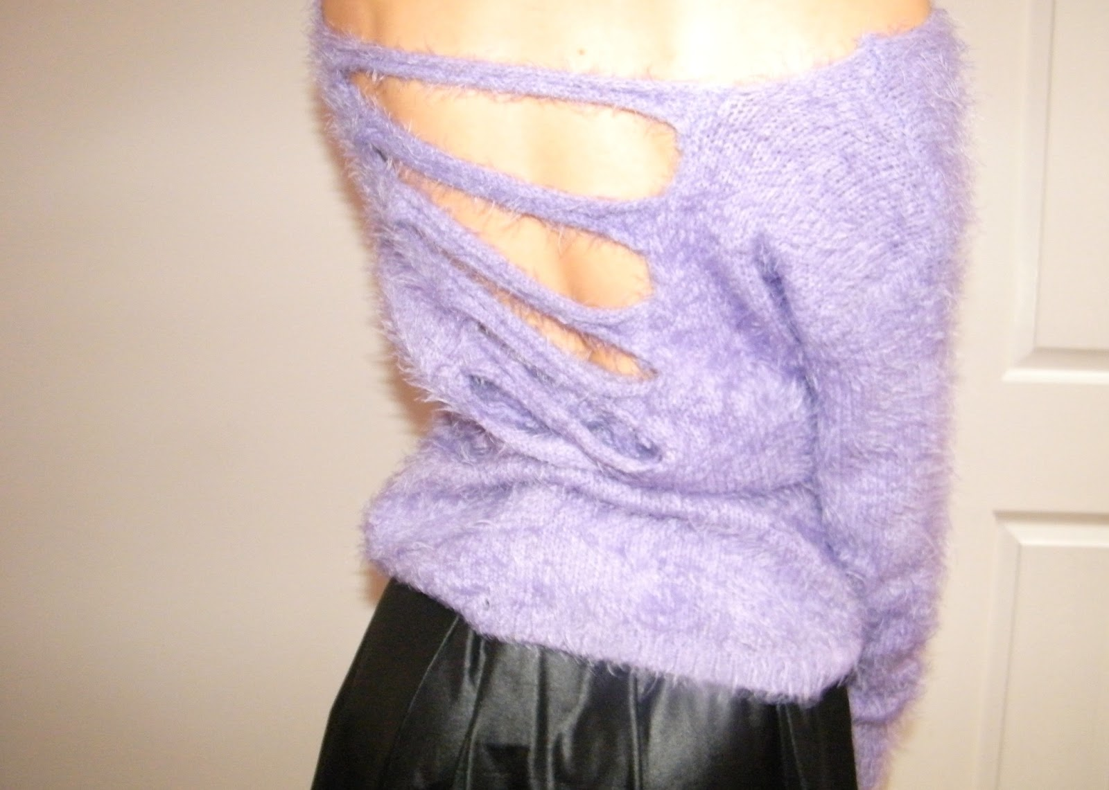 SheInside Purple Fluffy Jumper
