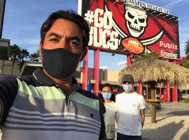 Noticia falsa que comisionado del INAIP haya asistido al Súper Bowl en Florida con sus hijos