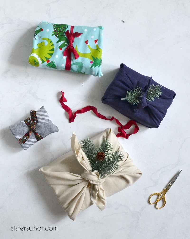 how to wrap presents with fabric