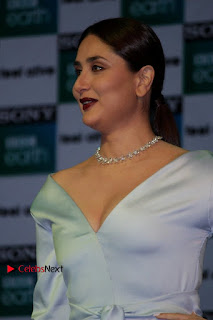 Bollywood Actress Kareena Kapoor Stills in Beautiful Silk Long Dress at Sony BBC Earth New Channel Launch  0007.jpg