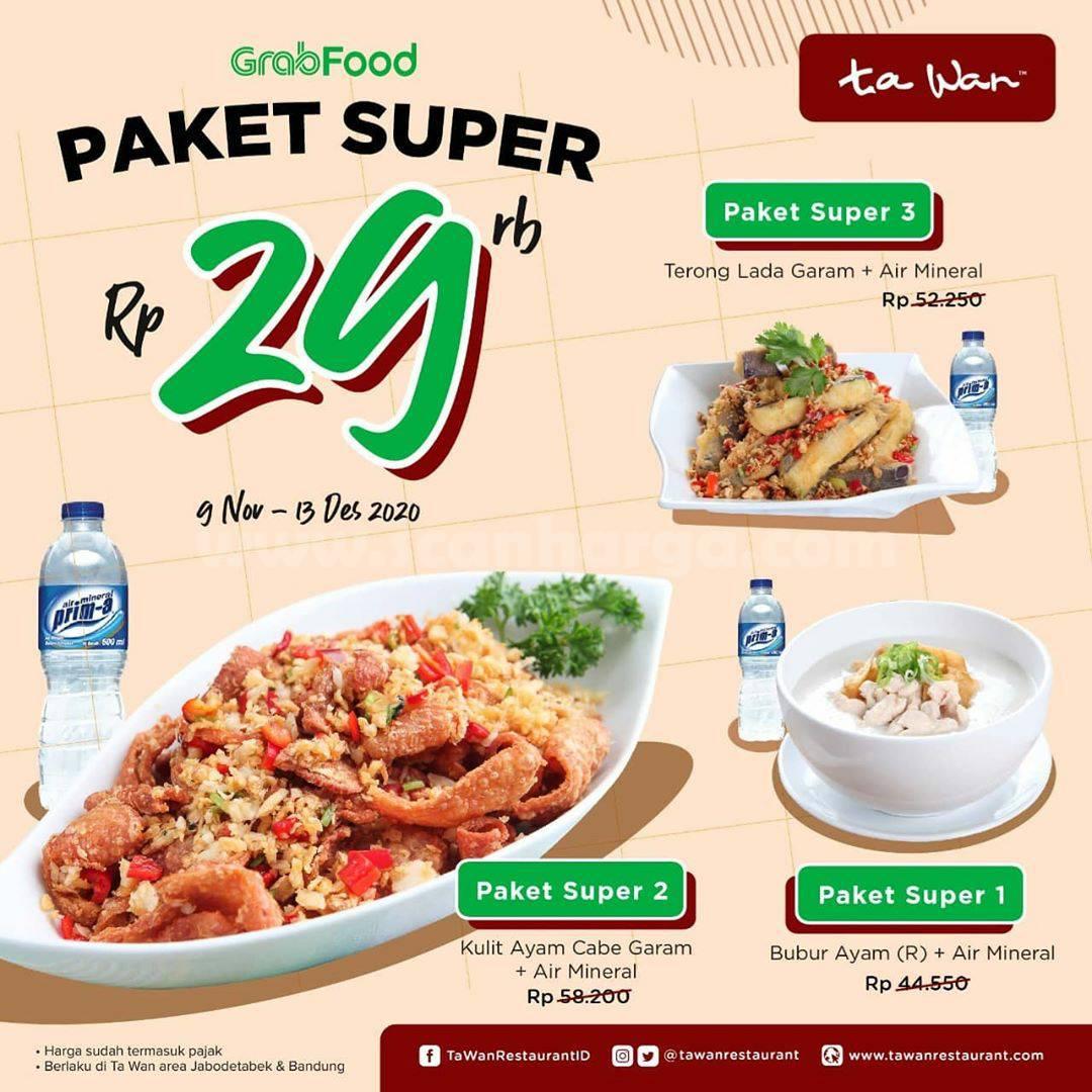 Ta Wan Restaurant Promo Paket Super Rp 29rb pesan antar via Grabfood