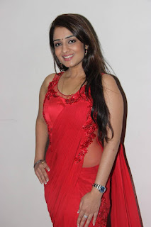 Actress Nikita Thukral Latest Pictures in Red Saree  0004.jpg
