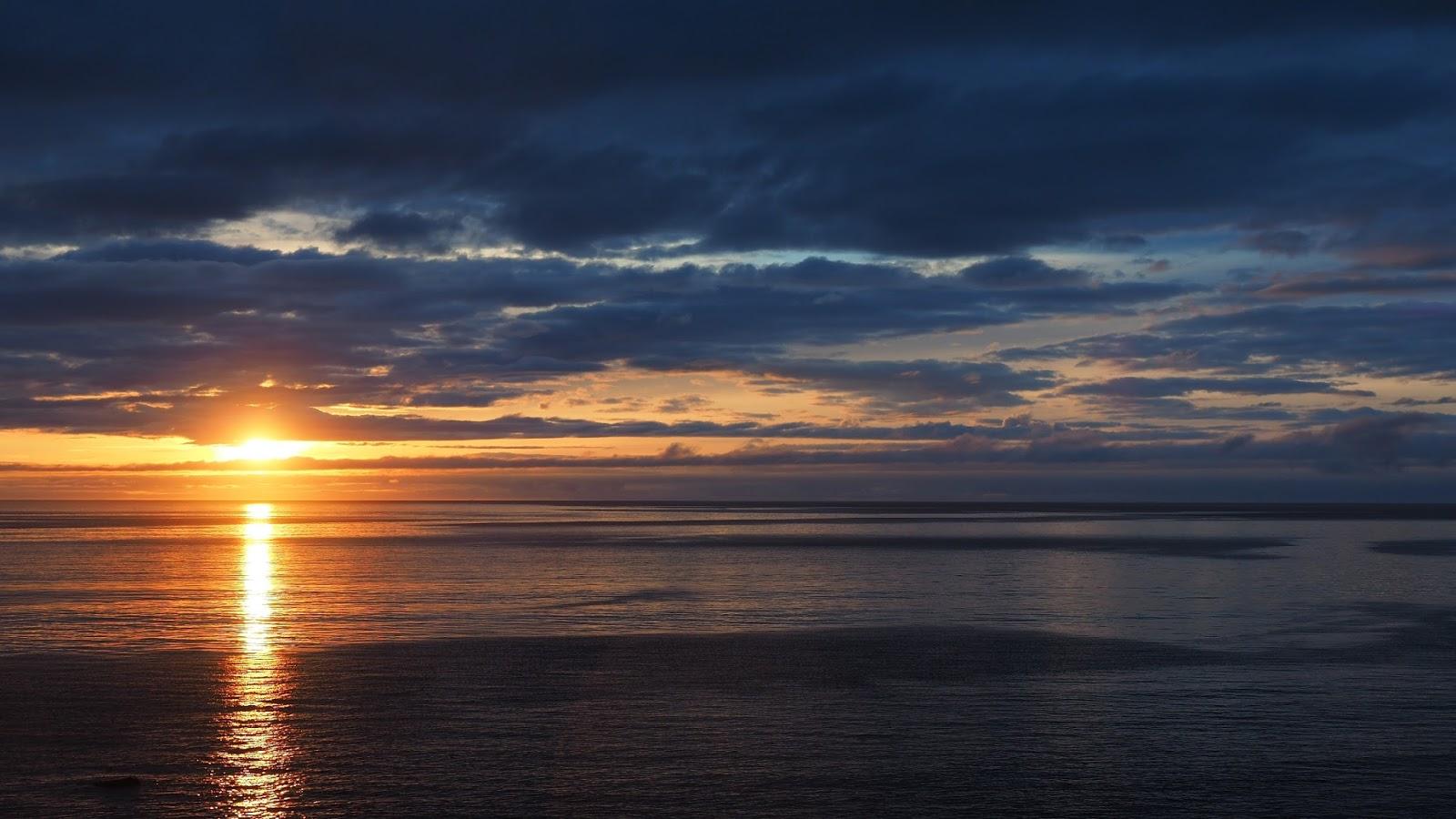 Hornstrandir, zachód słońca, trekking Islandia, atrakcje Islandii