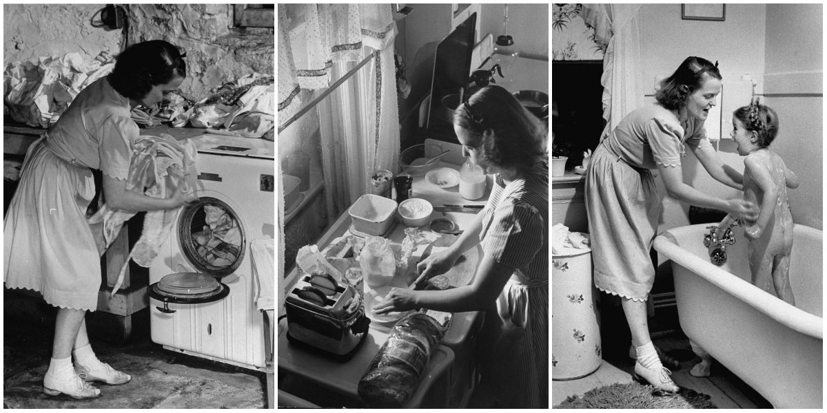 A Series of Vintage Photos Documented a Day in the Life of a 1940s Housewife