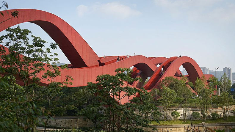 El puente Lucky Knot inspirado en la banda de Möbius | China