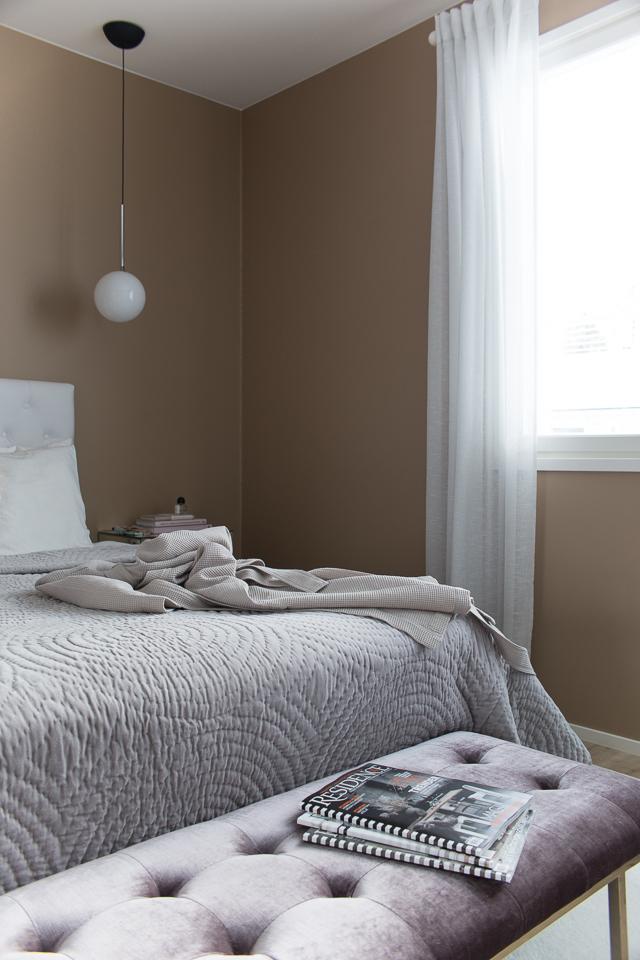 Villa H, hetki omaa aikaa, makuuhuoneen sisustus