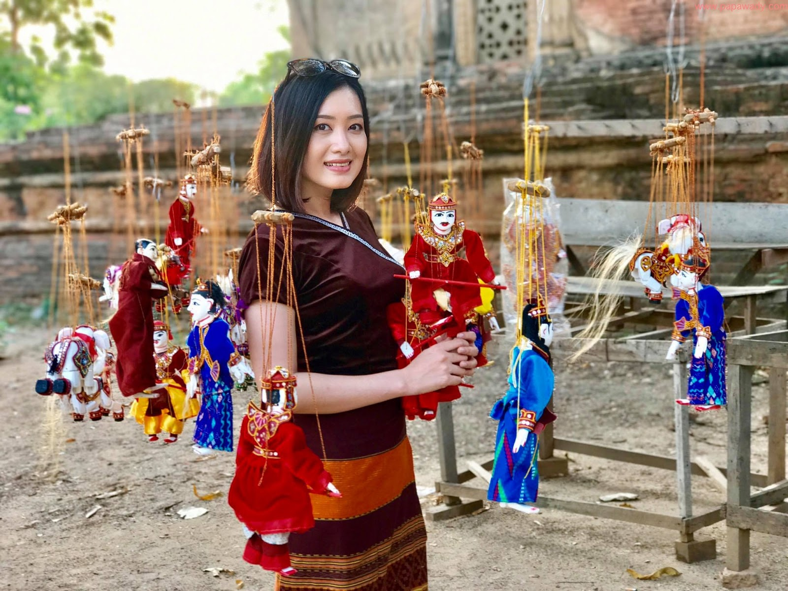 Yu Thandar Tin Beautiful Captured Photos In Ancient Bagan in Myanmar