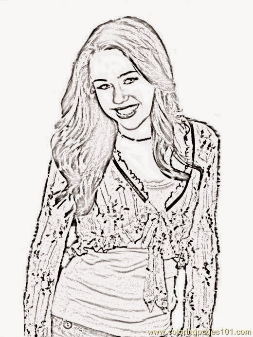 miley cyrus coloring pages printable - photo#12