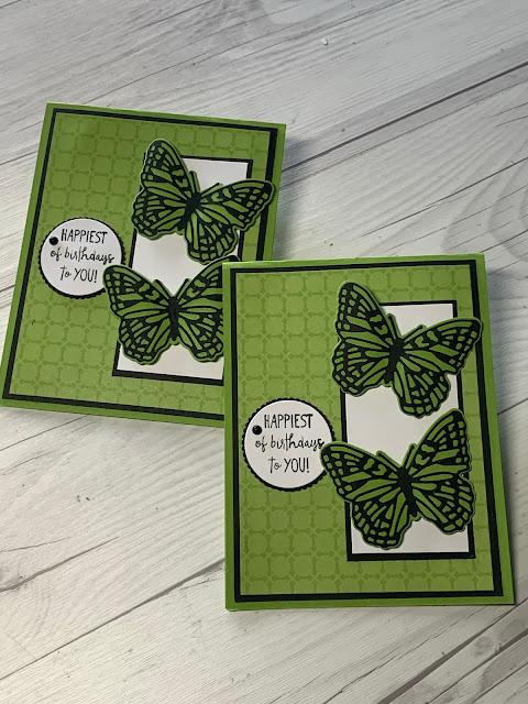 Handmade Birthday Card featuring die cut Butterflies using Stampin' Up! Brilliant Wings Dies