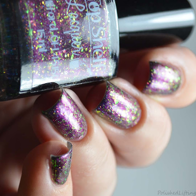 purple blue multi chrome nail polish