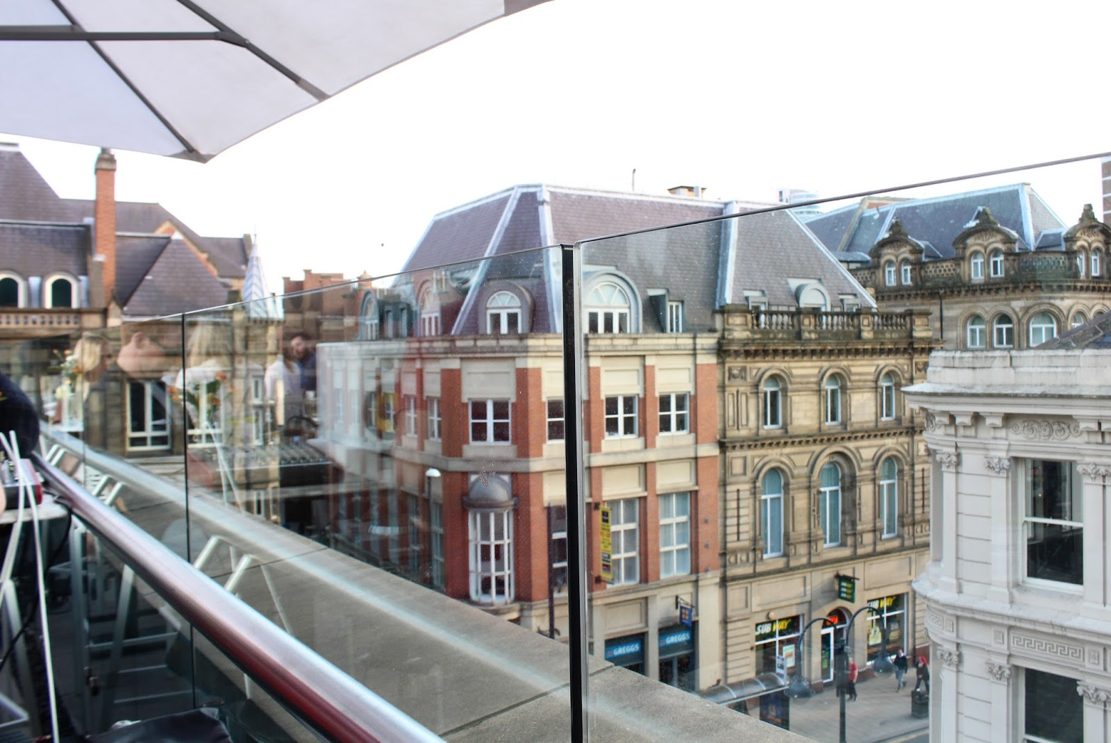 View over Leeds from Alchemist cocktail terrace
