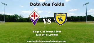 Data dan Fakta Liga Fantasia Serie A Gio 26 Fiiorentina vs Chievo Verona Fantasi Manager Indonesia