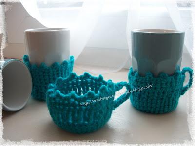 Dessous de tasse au crochet