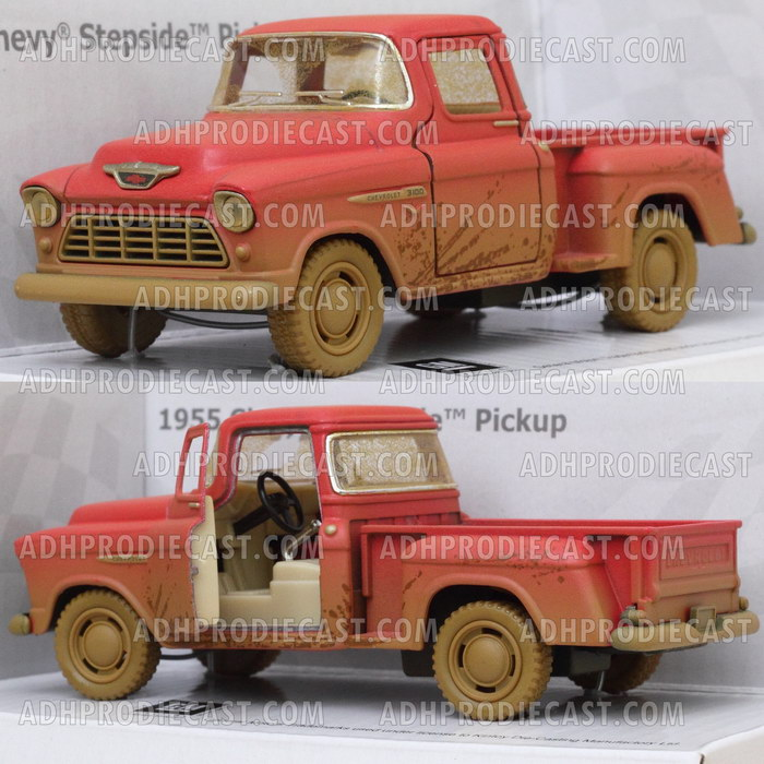 Chevy Stepside Pick-Up 1955 Dirt (Red-32K)