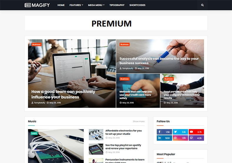Magify Responsive Blogger Template
