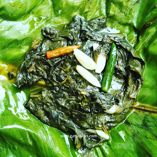 Mosondori leaves are known as heart leaves because of its heart shape. Modondori have many medicinal value and are used as a vegetable in Assamese cuisine. Today I'm going to share a simple recipe of mosondori. Mosondori patot diya or heart leaves cooked in banana leaf. Serve this recipe as a side dish with rice. Here in this recipe I'm using khar.   If you don't like khar or you don't have khar, skip khar.