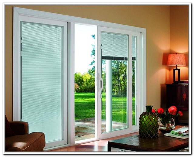Tips for sliding glass door blinds home and auto glass for Best sliding glass doors