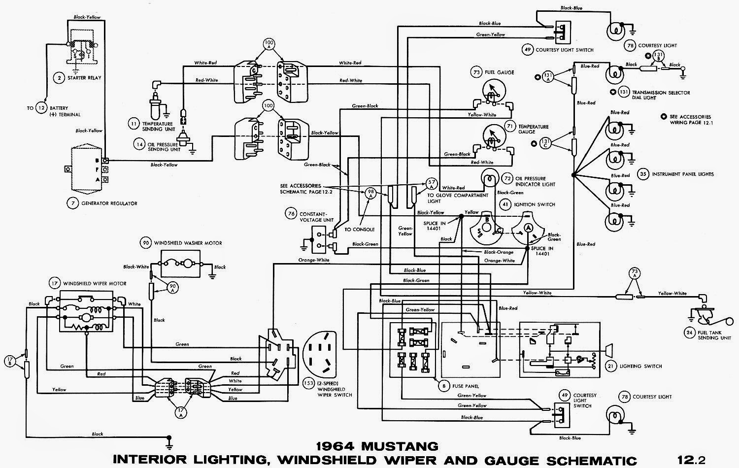 85 mustang ignition switch wiring diagram [ 1500 x 950 Pixel ]