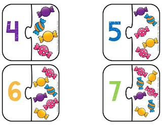Puzzle de números para niños