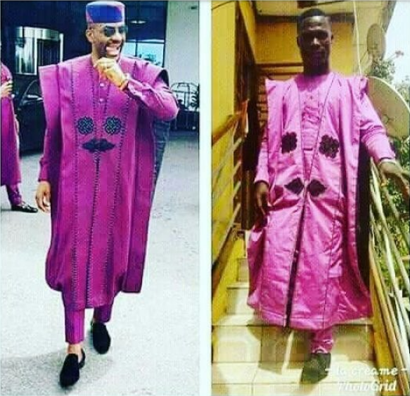 Man recreates Ebuka's famous Agbada and it's an EPIC FAIL