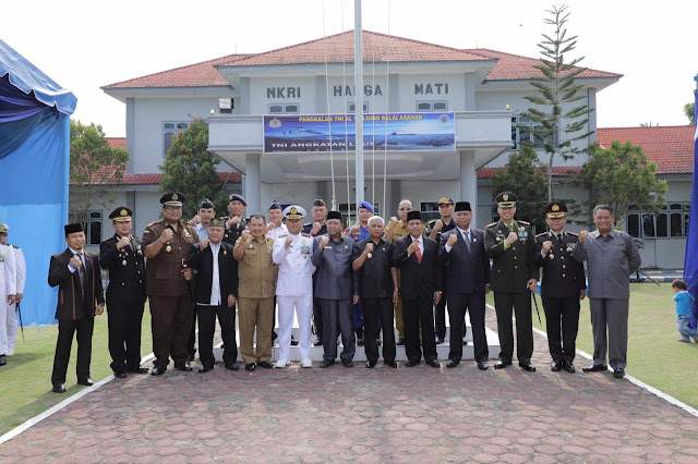 Plt Bupati Asahan Hadiri HUT TNI AL Ke 74