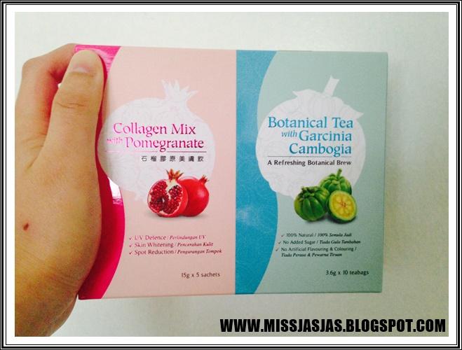 Saja Saja Missjasjasxbeauty Review Collagen Mix With Pomegranate X Botanical Tea With Garcinia Cambogia Beauxlim