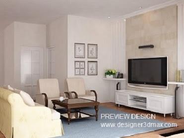 Jasa Desain 3D Ruang Keluarga Living Room 2020