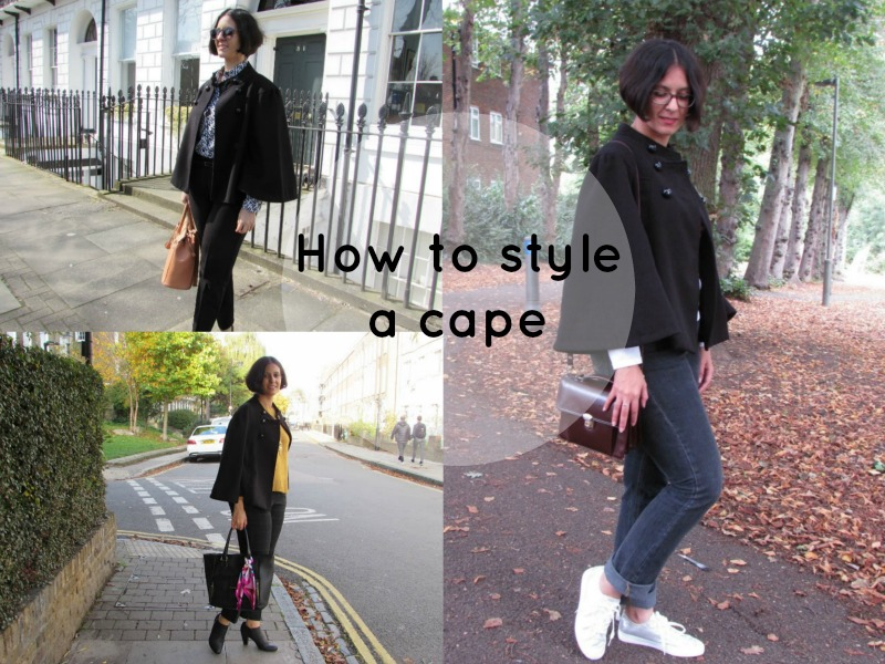 How to wear a cape in autumn