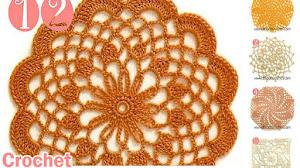 12 Patrones de Tapetes Redondos Pequeños a Crochet / Descarga gratis
