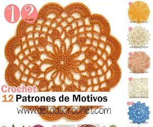 12 Patrones de Motivos Crochet / Descarga gratis