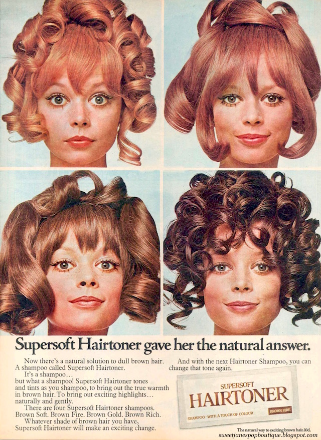 vintage 1960s hair colour advertisement from jackie magazine 1969