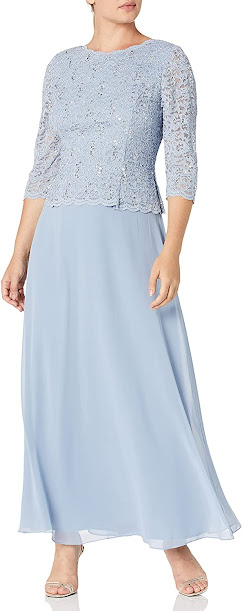 Long ace Mother of The Bride Dresses