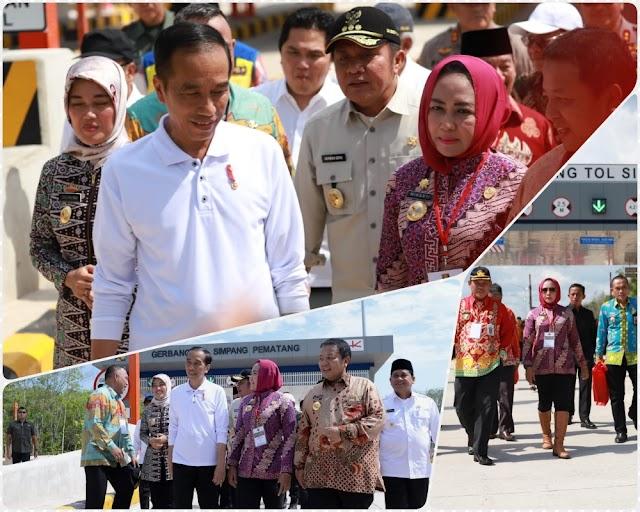 Bupati Tuba Antusias Dampingi Presiden Jokowi Saat Peresmian Jalan Tol Trans Sumatera