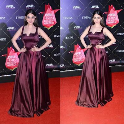 Actress Soundarya Sharma Nykaa Beauty Awards.