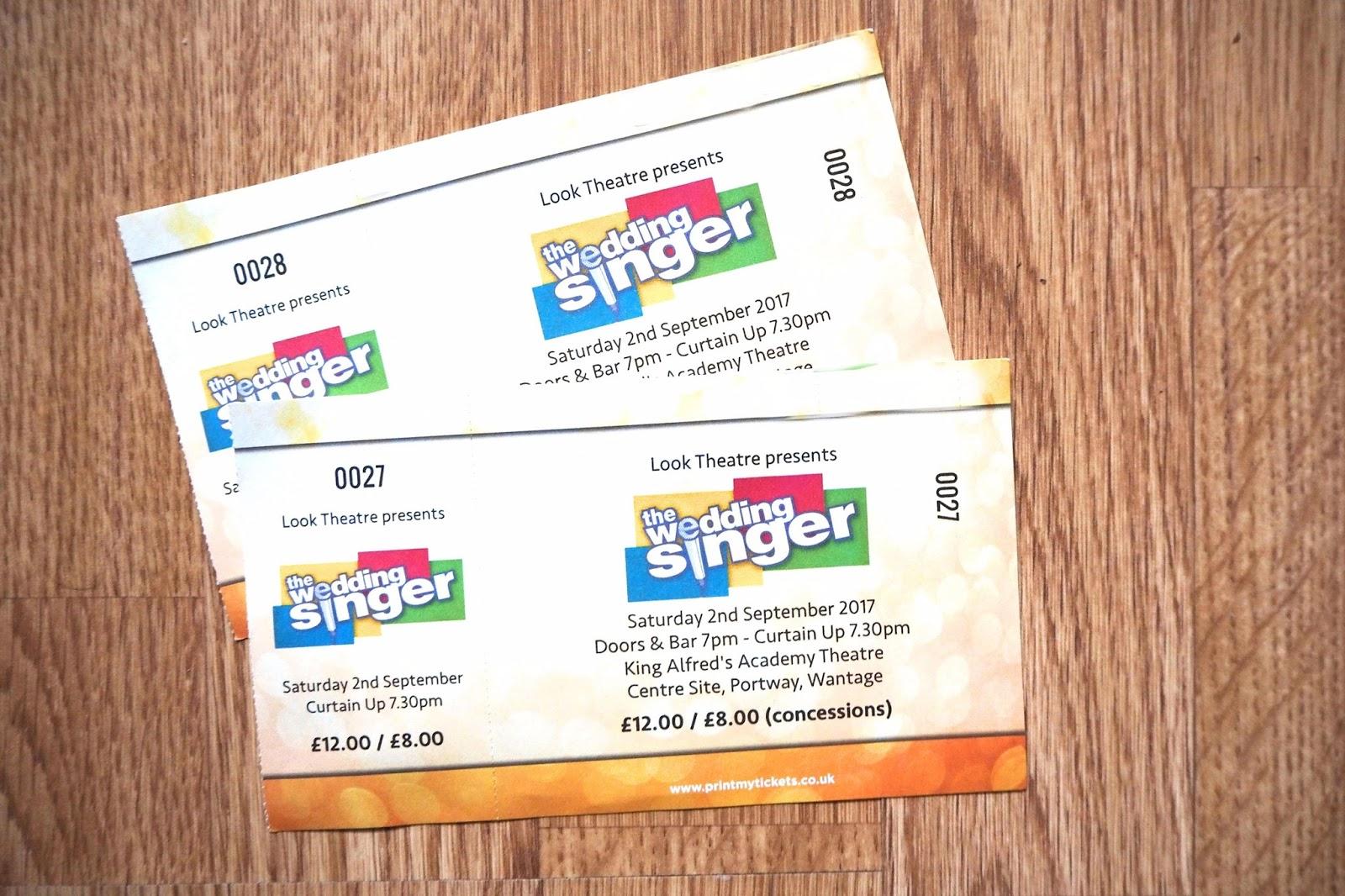 The Wedding Singer tickets