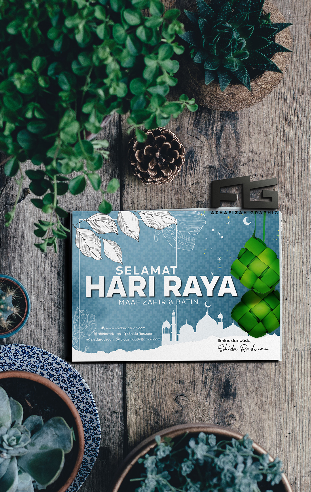 Design Kad Raya Shid Radzuan