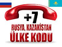 +7 Rusya ve Kazakistan ülke telefon kodu