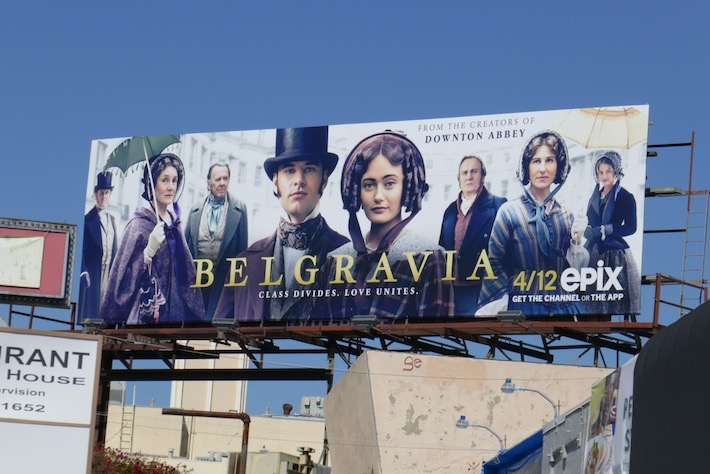 Belgravia series launch billboard