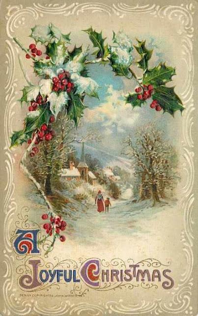 Carte ancienne Noël