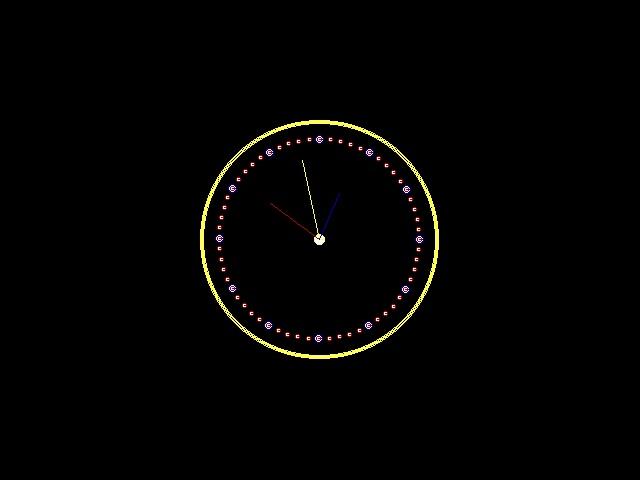 Make Analog Clock in C Using Graphics